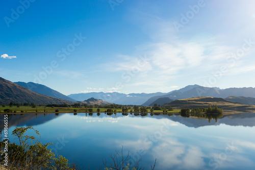 Fotobehang Blauw Picturesque landscape