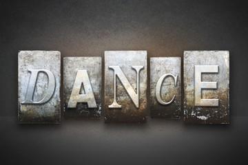 Fototapeta Taniec / Balet Dance Letterpress