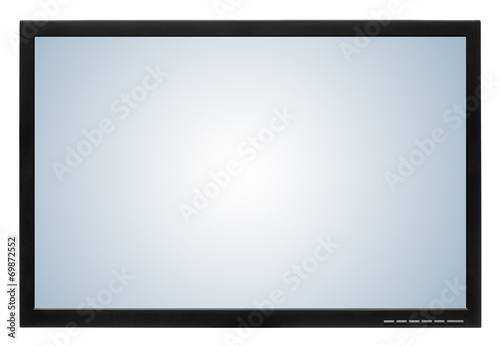 Photo  Computer display or lcd tv on white background