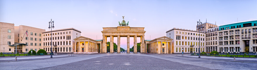 FototapetaBrandenburg Gate in panoramic view, Berlin, Germany