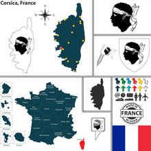 Map Of Corsica, France