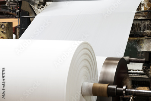 Obraz Paper and pulp mill - fototapety do salonu