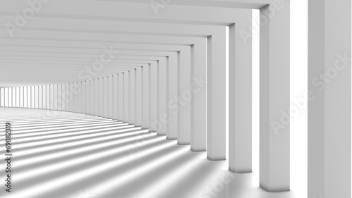 Fototapeta Abstract Modern Background, Columns Hall obraz