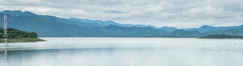 Papiers peints Alpes Mountain lake panorama view