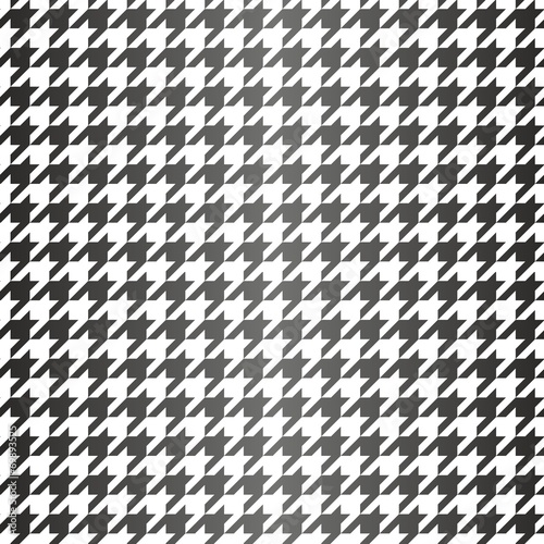 Photo  Tile black and white houndstooth vector pattern