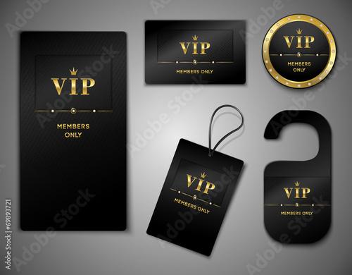Fotografía  Vip cards design template
