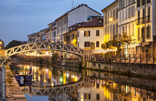 Bridge across the Naviglio Grande canal