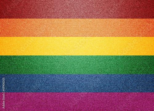 Cuadros en Lienzo Denim Rainbow flag