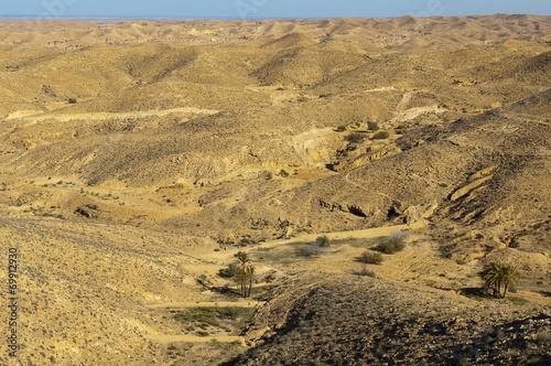 Poster Tunesië Sahara Desert at Matmata, Tunisia