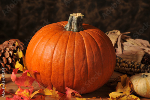 Fotografie, Obraz  Holiday pumpkin