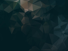 Dark Abstract Background Polygon