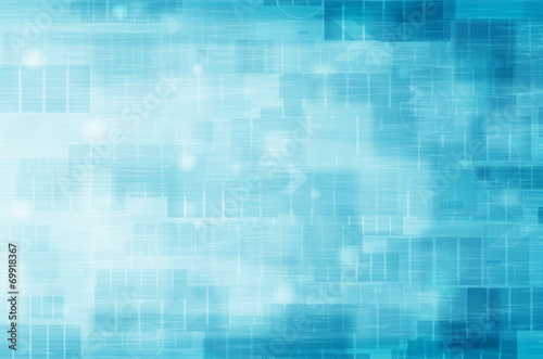 abstract technology on blue background.