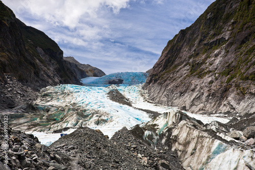 Poster Oceanië Scenic landscape at Franz Josef Glacier