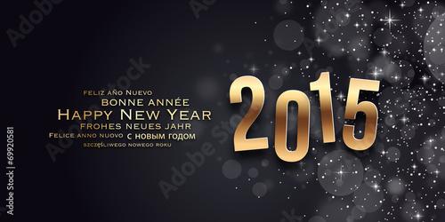 Fotografie, Obraz  Carte de vœux - Bonne année 2015