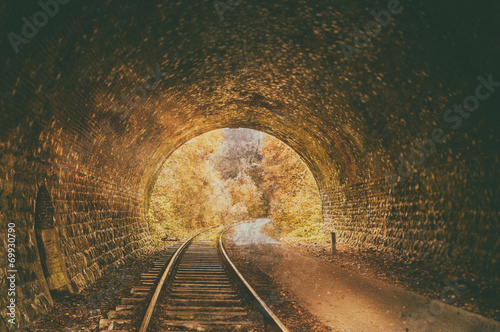 Old abandoned railway tunnel