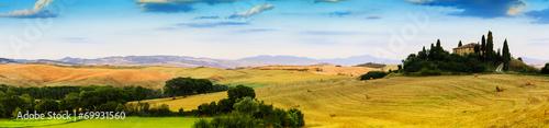 Foto op Plexiglas Toscane Tuscany, Italy - San Quirico d'Orcia, panorama