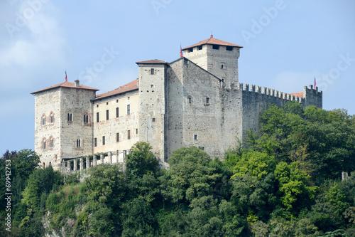 Photo  Rocca Borromeo fortress at Angera on lake maggiore