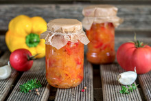 Canned Tomato Stew Salad With ...
