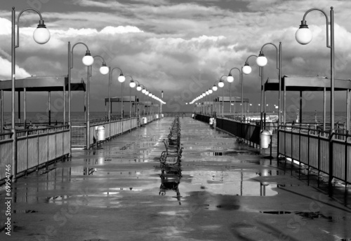 Fotomurales - Morze, deszczowe molo