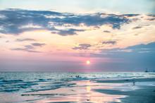 Sunset On Florida Beach