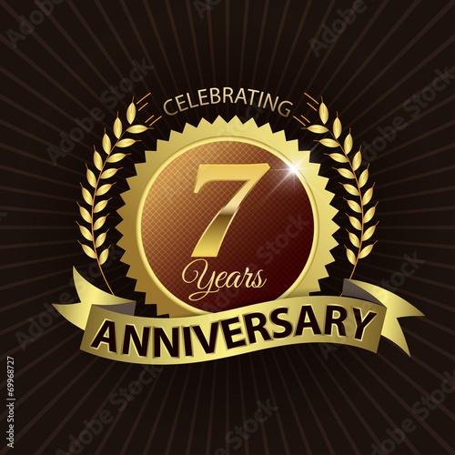 Fotografia  Celebrating 7 Years Anniversary - Laurel Wreath Seal & Ribbon