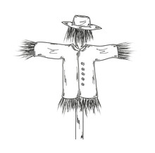Sketch Of The Scarecrow
