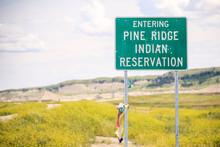 Entering Pine Ridge Indian Res...