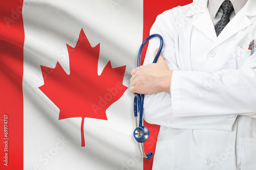 Poster Canada Concept of national healthcare system - Canada