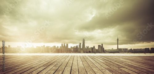 Poster Beige cityscape