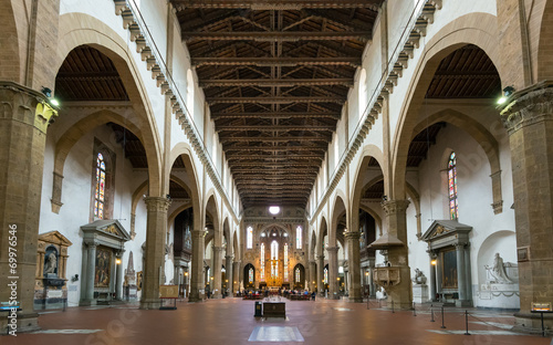 Tablou Canvas The interior of the Basilica of Santa Croce in Florence