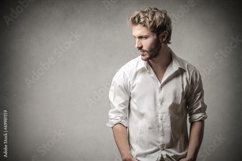Fotografie, Obraz  Handsome man looking away