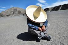 Mexican Man Having A Siesta