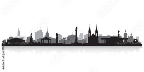 Fototapeta Krasnoyarsk Russia city skyline vector silhouette obraz