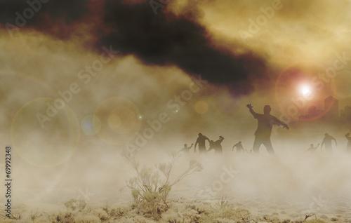 Photo  zombies desert horizontal