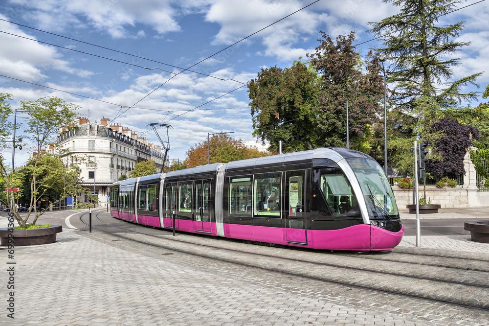Fototapety, obrazy: Modern tram in Dijon