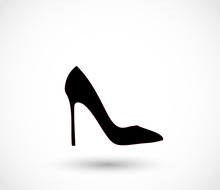 Black High Heels Icon Vector