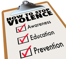 How To Stop Violence Checklist...