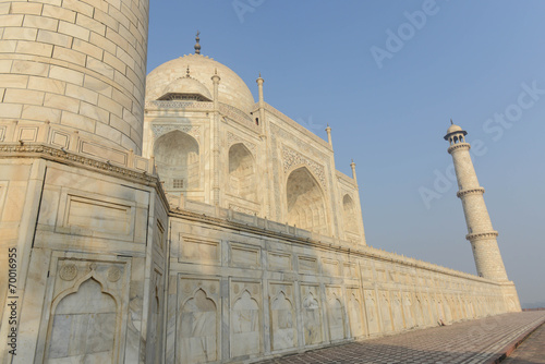 Poster Monument Taj Mahal in Agra India