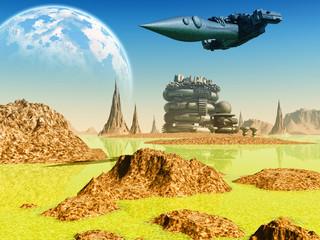 Fototapeta Fantasy Fantasy landscape
