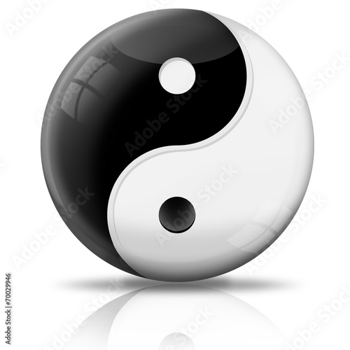 Valokuva  Kugel Yin und Yang freigestellt
