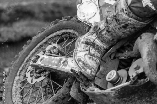 Naklejka premium Motocross