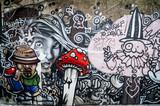 Fototapeta Młodzieżowe - Mur de graffiti