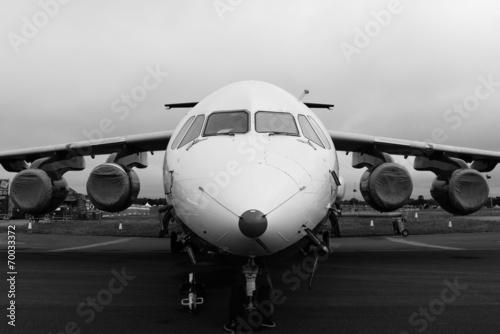 Türaufkleber Flugzeug Black and white plane