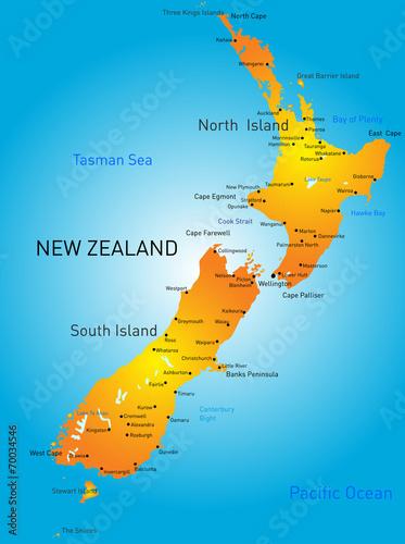 New Zealand Wallpaper Mural