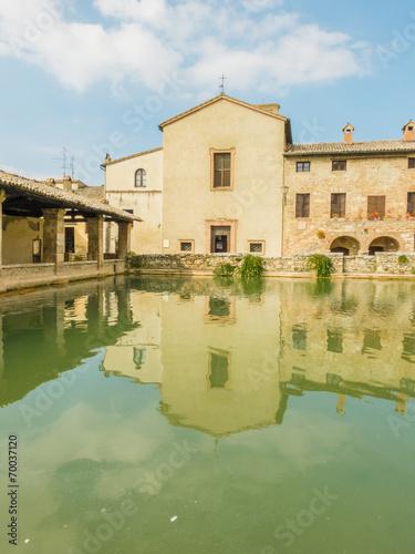 Bagno Vignoni - Terme -Toscana - Buy this stock photo and explore ...