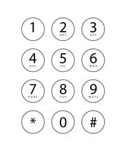 Illustration Of A Phone Keypad...