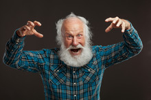 Old Man With A Long Beard With...