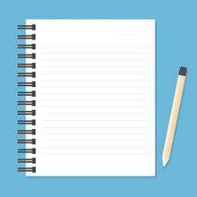 White Notebook With Lines Can ...
