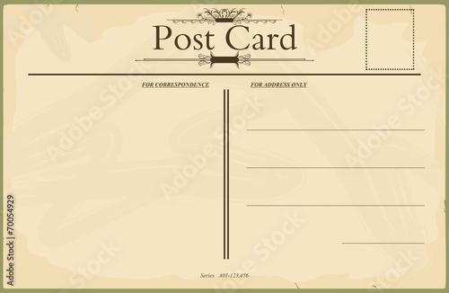 Fototapeta Blank vintage postcard obraz