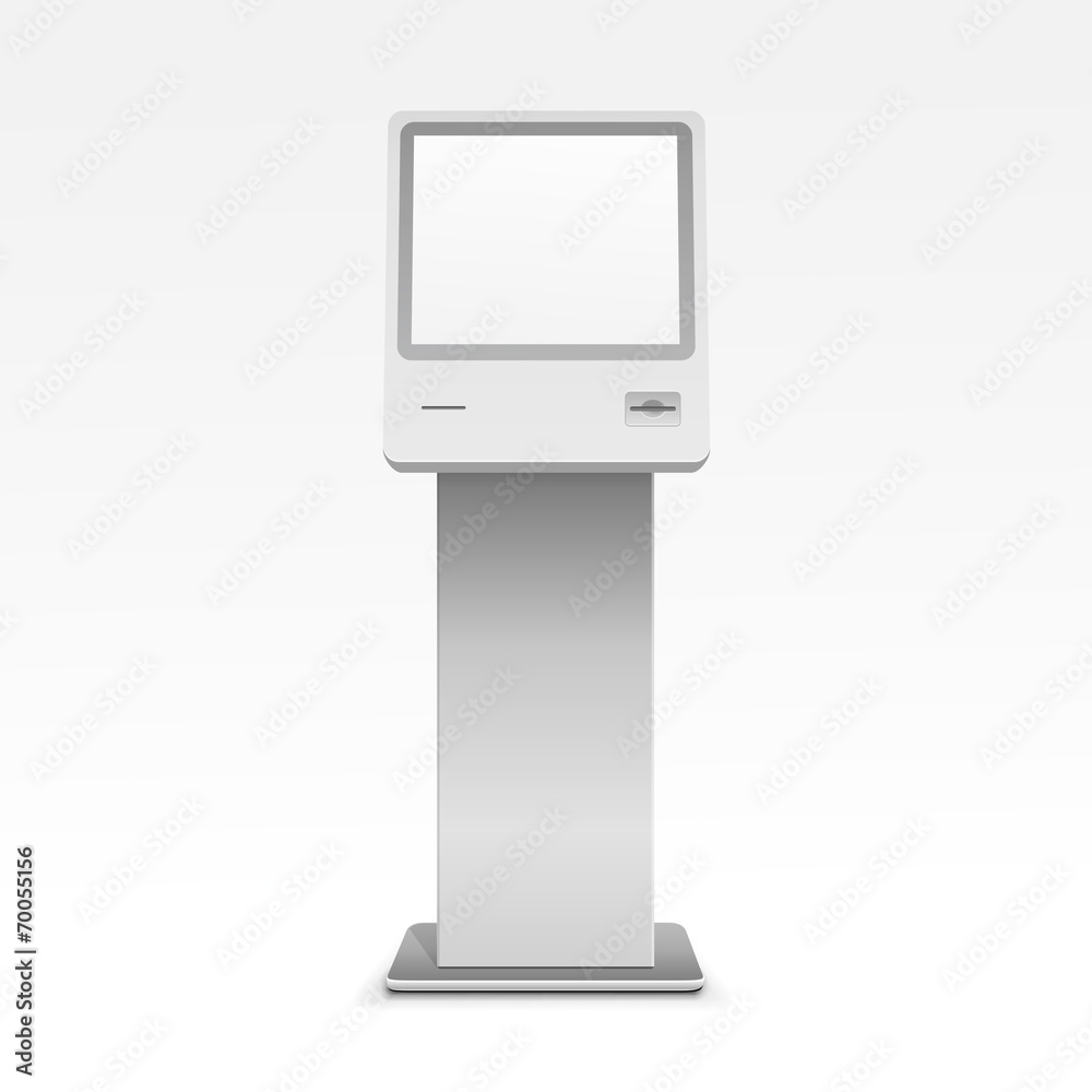 Fototapeta Information Display Monitor Terminal Stand